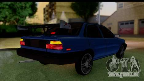 Toyota Corolla 1990 4-Door Sedan pour GTA San Andreas laissé vue
