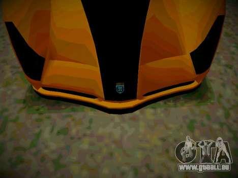 Le guépard из GTA 5 pour GTA San Andreas sur la vue arrière gauche