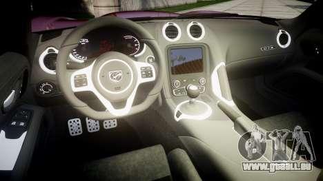Dodge Viper SRT GTS 2013 Sharpie pour GTA 4 est une vue de l'intérieur