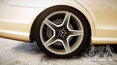 Mercedes-Benz C63 AMG 2010 für GTA 4 Rückansicht