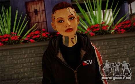 Jack Hood from Mass Effect 3 für GTA San Andreas dritten Screenshot