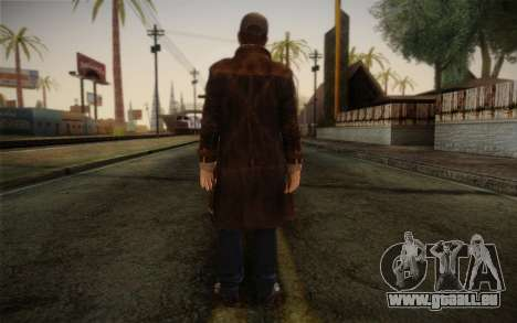 Aiden Pearce from Watch Dogs v11 pour GTA San Andreas deuxième écran