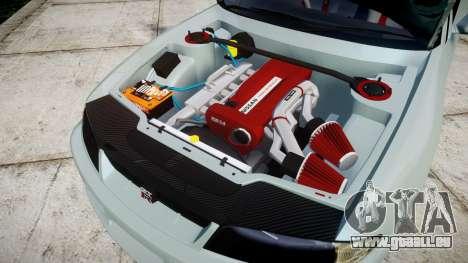 Nissan Skyline GT R33 1996 Sharpie pour GTA 4 est une vue de l'intérieur