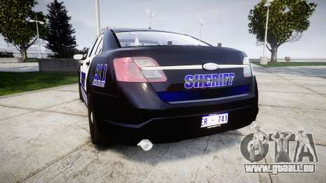 Ford Taurus 2014 Sheriff [ELS] für GTA 4 hinten links Ansicht
