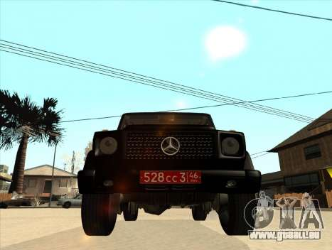 Mercedes-Benz G500 pour GTA San Andreas laissé vue