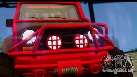 GTA 5 Mesa MerryWeather pour GTA San Andreas vue de droite
