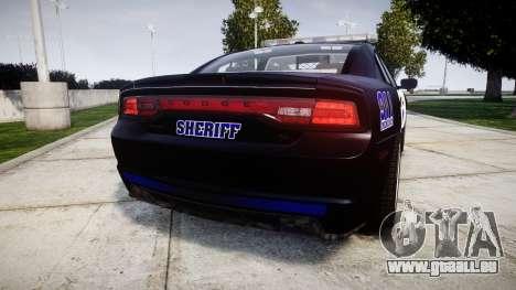 Dodge Charger RT 2014 Sheriff [ELS] pour GTA 4 Vue arrière de la gauche
