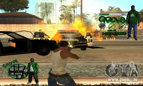 C-HUD Groove pour GTA San Andreas cinquième écran