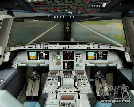Airbus A380-800 Garuda Indonesia für GTA San Andreas Innen