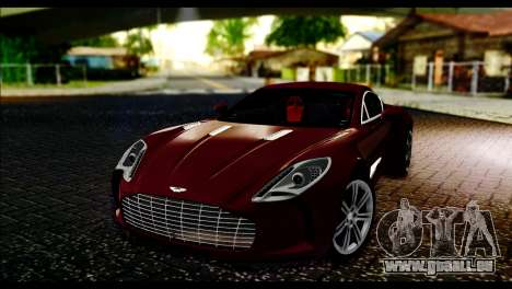 Aston Martin One-77 Black and Red pour GTA San Andreas
