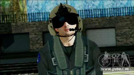 USA Helicopter Pilot from Battlefield 4 pour GTA San Andreas troisième écran