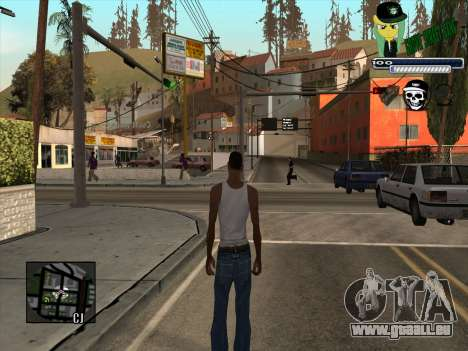 C-HUD Grove Street Gang pour GTA San Andreas