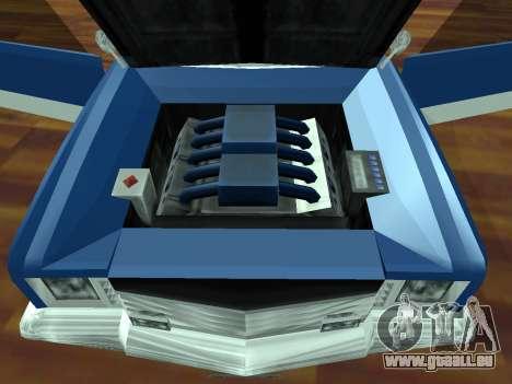 Buccaneer-Turbo für GTA San Andreas Rückansicht