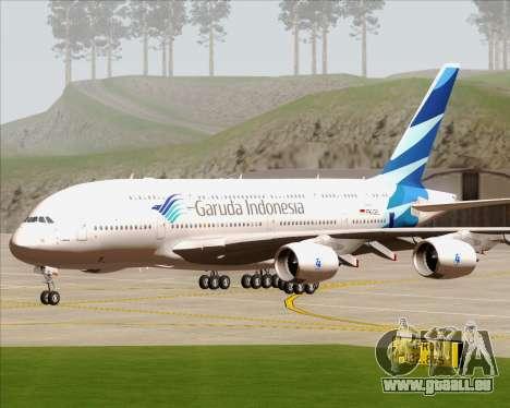 Airbus A380-800 Garuda Indonesia für GTA San Andreas Rückansicht