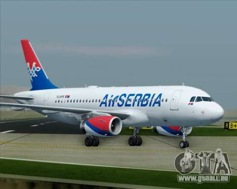 Airbus A319-100 Air Serbia für GTA San Andreas Innen