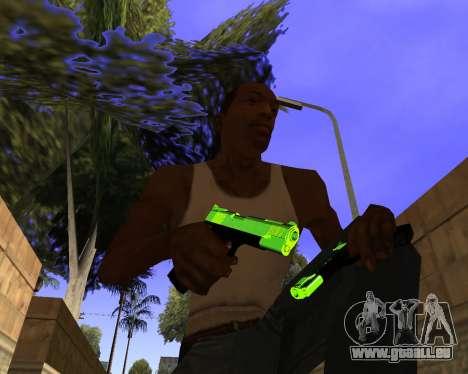 Chrome Green Weapon Pack für GTA San Andreas her Screenshot