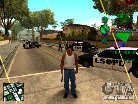 C-HUD Grove Street TAWER pour GTA San Andreas deuxième écran