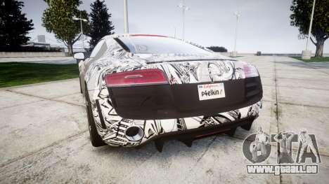 Audi R8 plus 2013 HRE rims Sharpie pour GTA 4 Vue arrière de la gauche