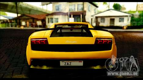 Lamborghini Gallardo LP 570-4 pour GTA San Andreas vue de droite
