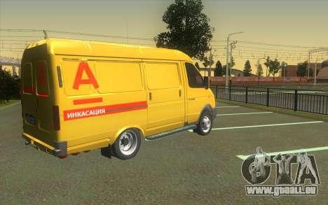GAZelle 2705 Collection D'Alfa Bank pour GTA San Andreas laissé vue