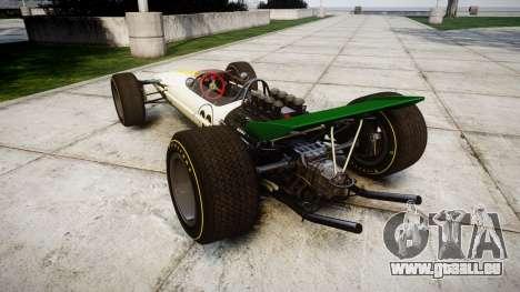 Lotus Type 49 1967 [RIV] PJ21-22 pour GTA 4 Vue arrière de la gauche