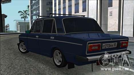 ВАЗ 2106 à la russe 2.0 pour GTA San Andreas sur la vue arrière gauche