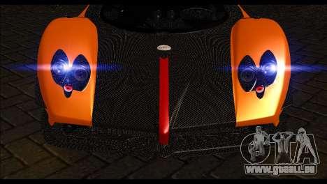 Pagani Zonda Cinque Roadster pour GTA San Andreas vue de droite