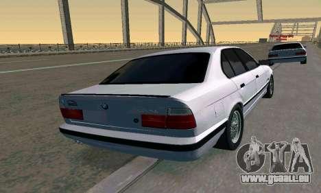 BMW 525 Turbo pour GTA San Andreas laissé vue