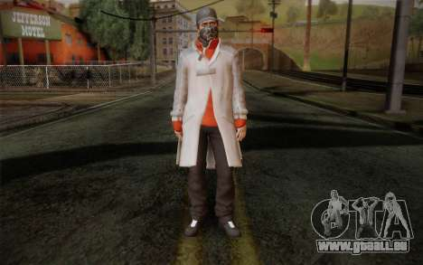 Aiden Pearce from Watch Dogs v1 für GTA San Andreas