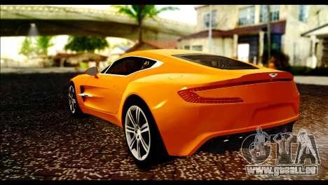 Aston Martin One-77 Black für GTA San Andreas linke Ansicht