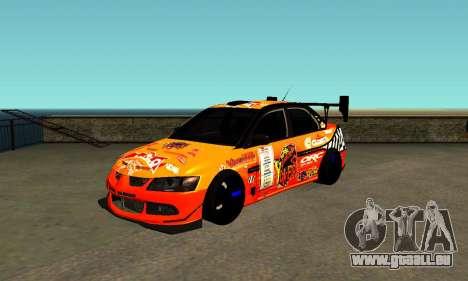 Mitsubishi Lancer Evo 9 Kumakubo Team Orange pour GTA San Andreas