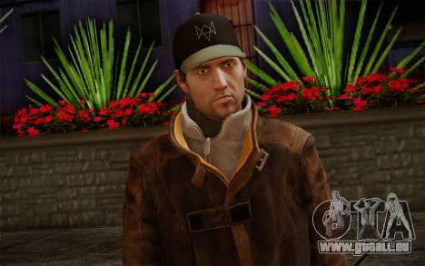 Aiden Pearce from Watch Dogs v12 für GTA San Andreas dritten Screenshot