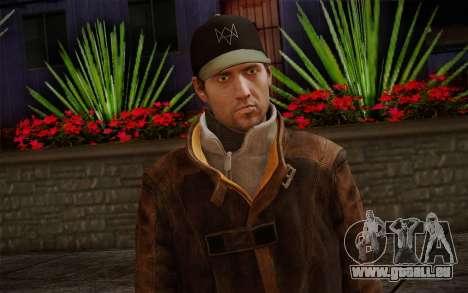 Aiden Pearce from Watch Dogs v12 für GTA San Andreas dritten Screenshot