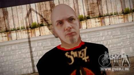 Phil Anselmo Skin pour GTA San Andreas troisième écran