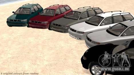 Daewoo Nubira I Kombi CDX US 1999 für GTA San Andreas Innen
