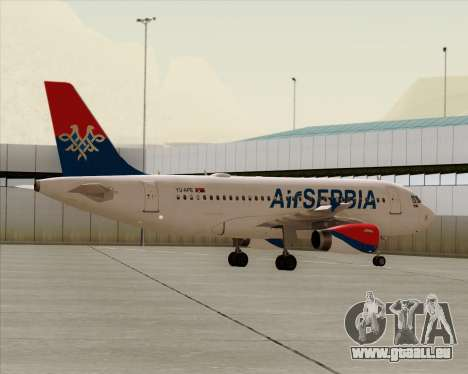 Airbus A319-100 Air Serbia für GTA San Andreas Unteransicht