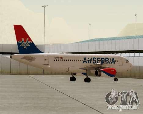 Airbus A319-100 Air Serbia pour GTA San Andreas vue de dessous