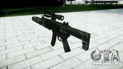 Tactique pistolet mitrailleur MP5 cible pour GTA 4 secondes d'écran