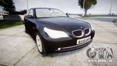 BMW 525d E60 2009 Police [ELS] Unmarked pour GTA 4