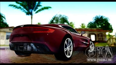 Aston Martin One-77 Black and Red für GTA San Andreas linke Ansicht
