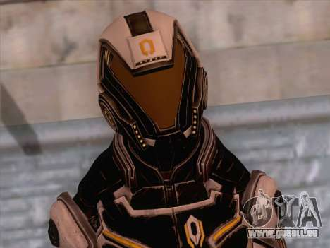 Cerberus Female Armor from Mass Effect 3 pour GTA San Andreas troisième écran