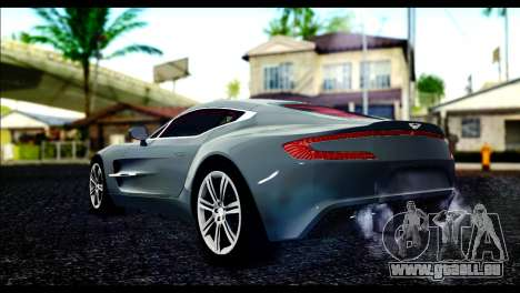 Aston Martin One-77 Red and Black pour GTA San Andreas laissé vue