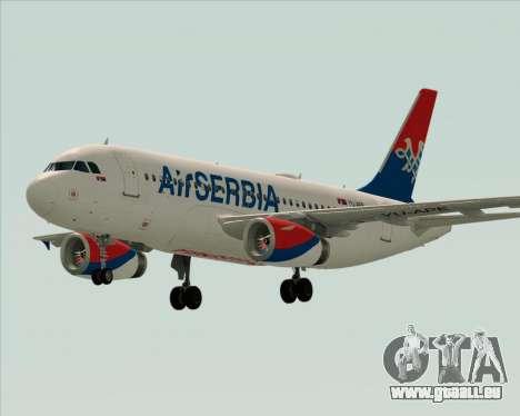 Airbus A319-100 Air Serbia für GTA San Andreas obere Ansicht