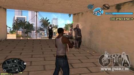 C-HUD Blue pour GTA San Andreas troisième écran