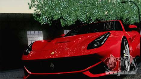 Ferrari F12 Berlinetta 2013 für GTA San Andreas Rückansicht