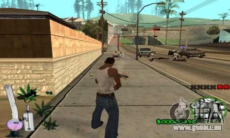C-HUD Canabis pour GTA San Andreas quatrième écran