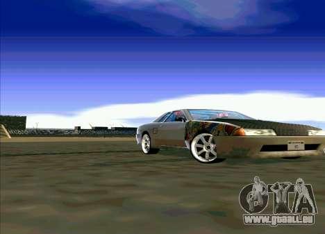 Elegy Restyle pour GTA San Andreas sur la vue arrière gauche
