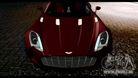 Aston Martin One-77 Black and Red für GTA San Andreas rechten Ansicht