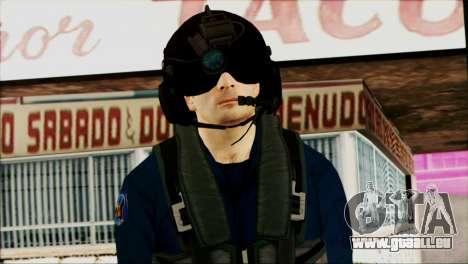 Chinese Pilot from Battlefiled 4 pour GTA San Andreas troisième écran