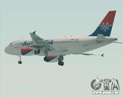 Airbus A319-100 Air Serbia pour GTA San Andreas roue